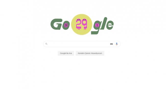 Google'ın 29 Şubat'a özel Doodle'ı Yayınlandı