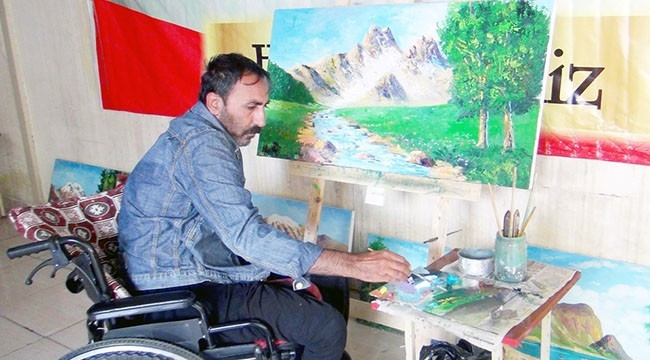 Bitlisli Ressam Zeynel Koçer'in Engelli Projesi