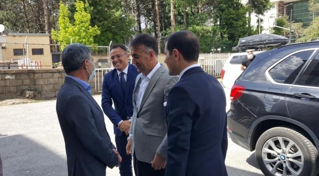 """Vali Çağatay'dan Kaymakam Özkan'a """"Hayırlı Olsun"""" Ziyareti"""