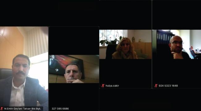 İkinci 'Van Gölü' Toplantısı Video Konferans Yöntemiyle Yapıldı