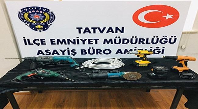 Tatvan'da Hırsızlık Yapan Şahıslar Tutuklandı