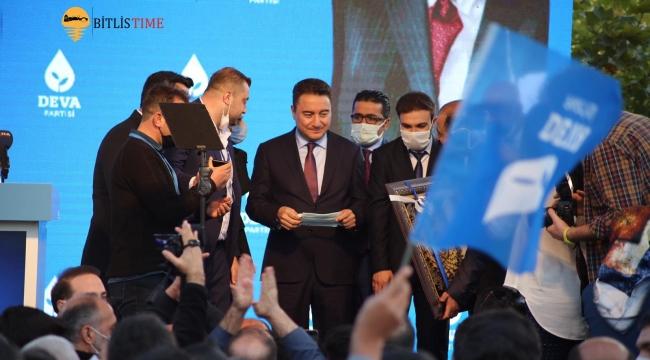 Deva Partisi Bitlis 1. Olağan İl Kongresini Gerçekleştirdi! Ali Babacan