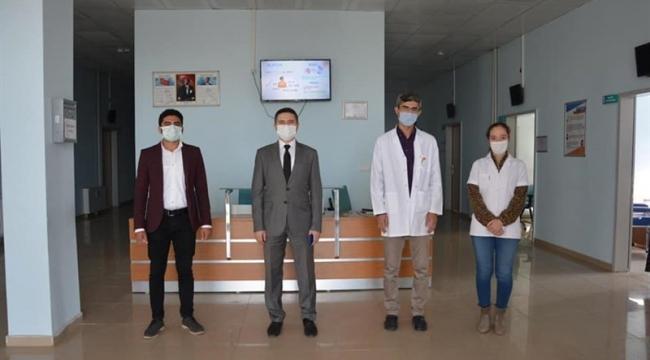 Güroymak Kaymakamı Zeyrek İlçe Sağlık Müdürlüğünü Ziyaret Etti