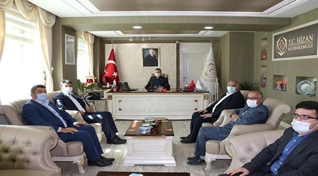 Memur-Sen ve Eğitim Bir-Sen Bitlis Şubesinden Hizan Kaymakamına Ziyaret