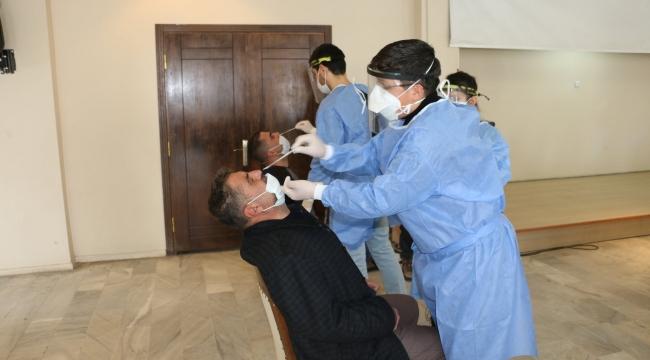 Belediye Çalışanlarına PCR Testi Yapıldı
