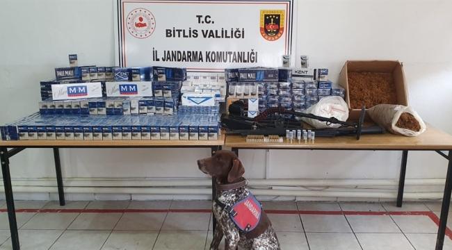Adilcevaz'da 2170 Paket Gümrük Kaçağı Sigara ve Ruhsatsız Av Tüfeği Yakalandı