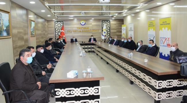"""""""Tarıma Dayalı Ekonomik Yatırımların Desteklenmesi"""" Toplantısı Düzenlendi"""