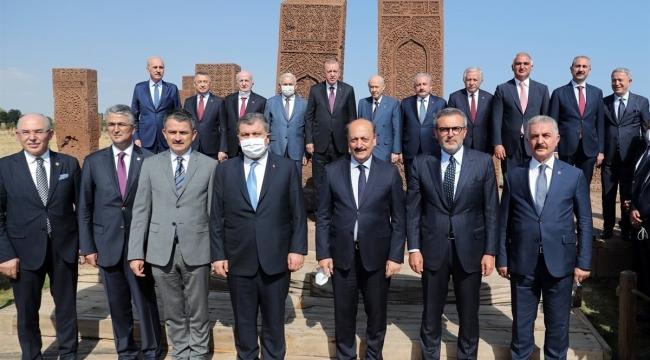 Cumhurbaşkanı Erdoğan'ın, Malazgirt Zaferi'nin 950. Yıl Dönümü Dolayısıyla Ahlat Ziyareti
