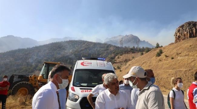 Vali Çağatay, Yangın Bölgesinde İncelemede Bulundu